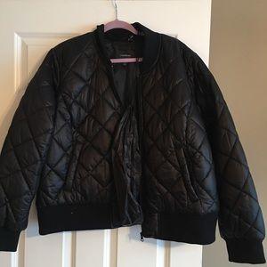 Brand new black puffy waist jacket. 22/24.